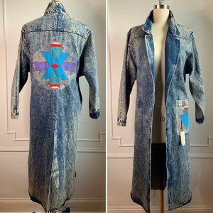 Pioneer Wear Acid Wash Denim Long Jacket